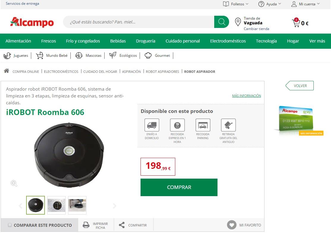 Alcampo iRobot de Roomba