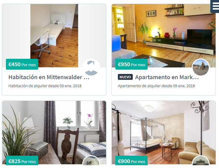 Alquiler de apartamentos en Berlín