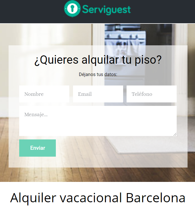 Alquiler vacacional en Barcelona Serviguest