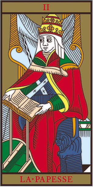 Arcano II del Tarot La Sacerdotisa o Papisa
