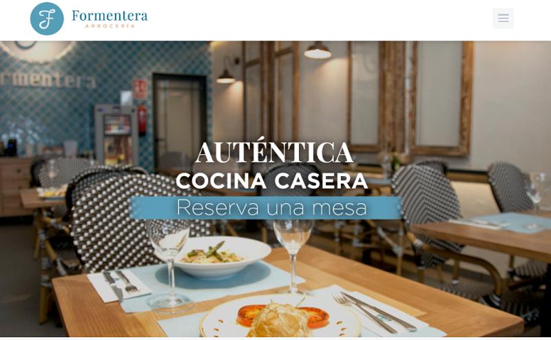 Arroceria Formentera página web