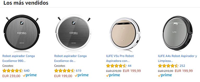 Aspiradores robot Amazon
