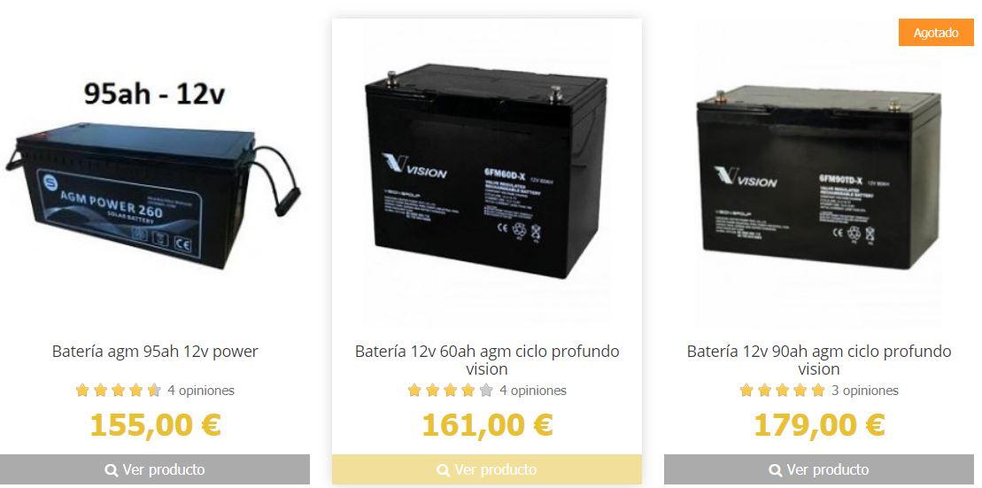 Batería de instalación solar casera