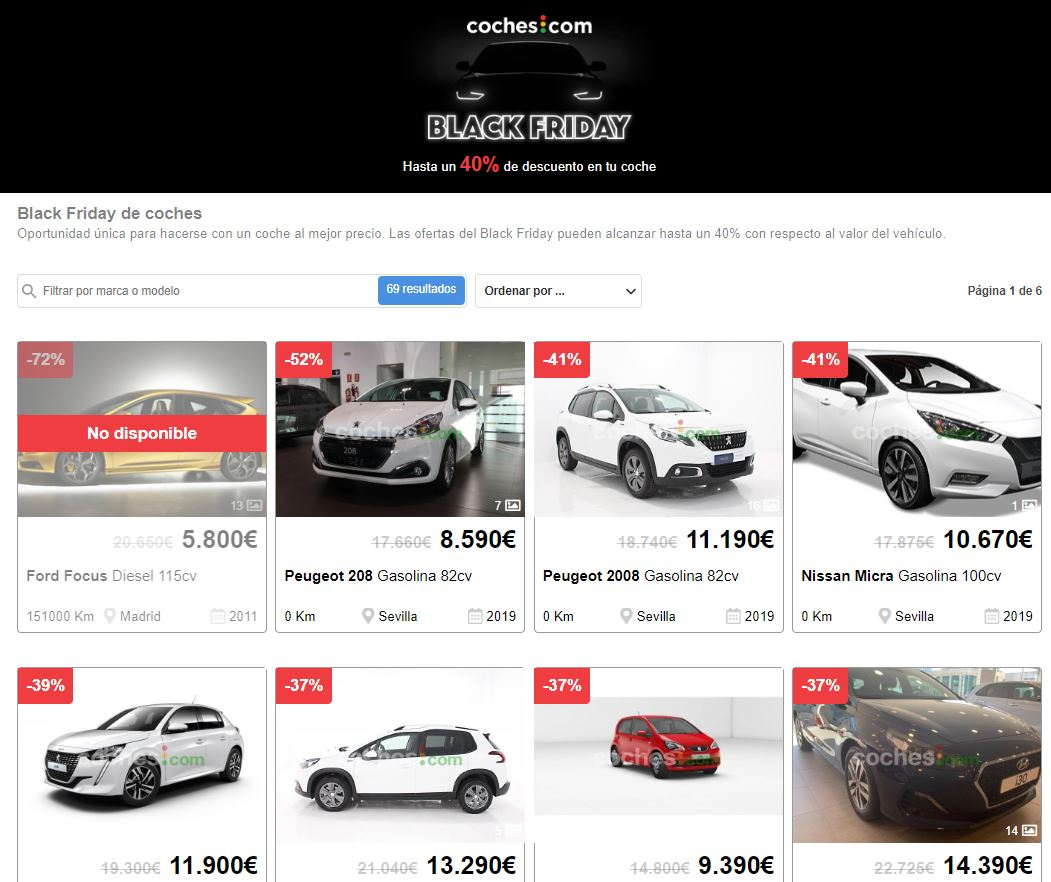 Black Friday coches 2019