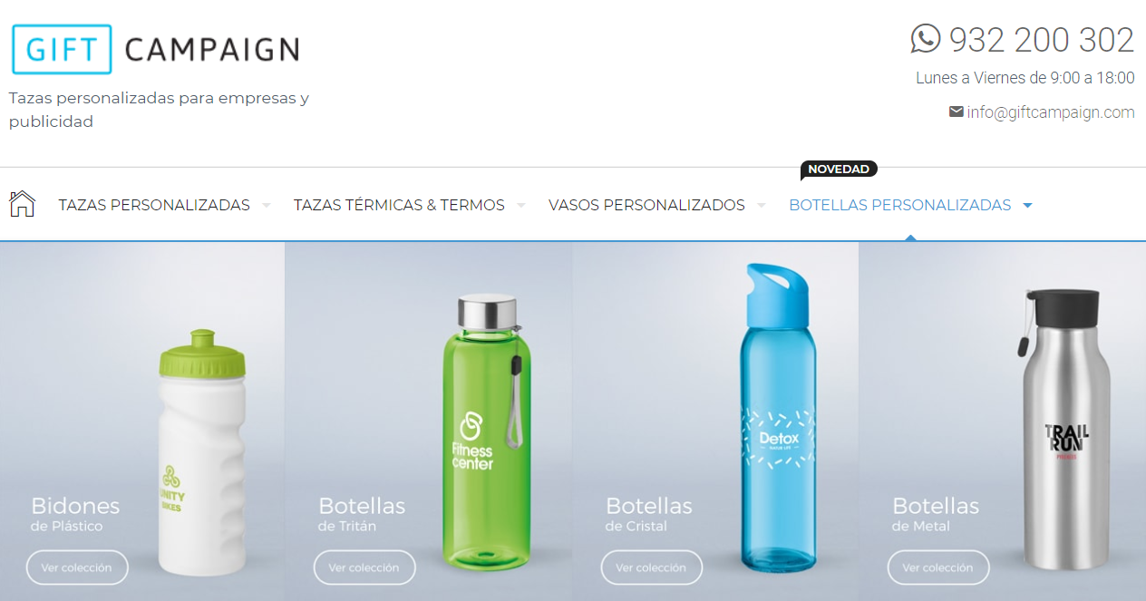 Botellas personalizadas de Gift Campaign