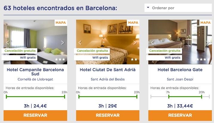 ByHours Hoteles por horas Barcelona