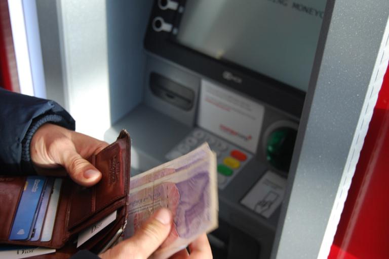 Cajero automático banco