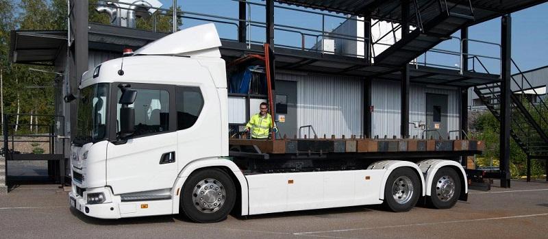 Camión Scania propulsado por baterías eléctricas