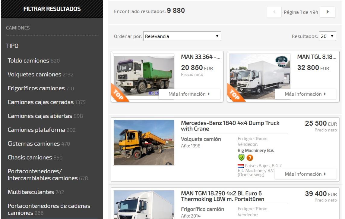 Camiones Truck1 Spain
