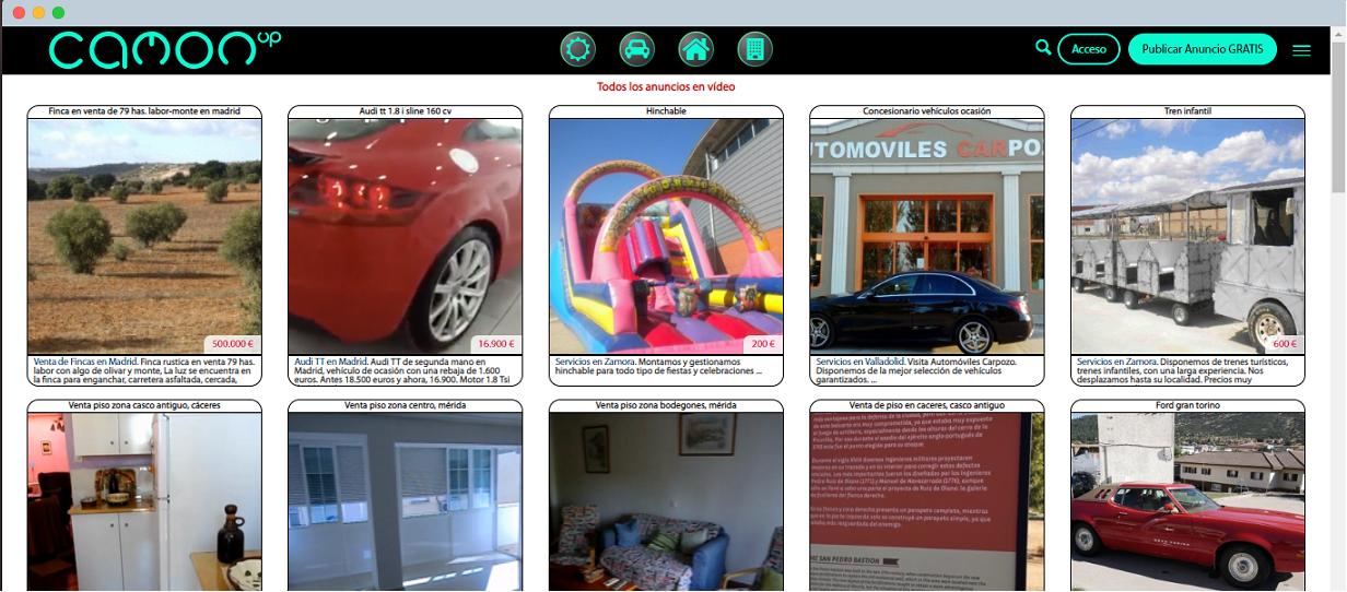 Camonup homepage