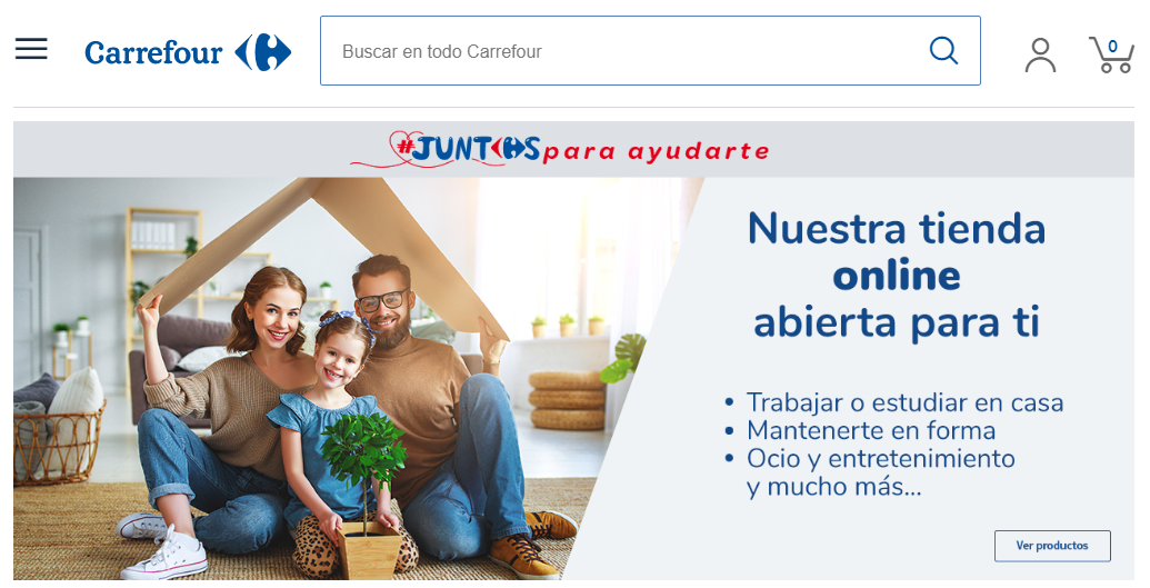 Carrefour tienda online portada