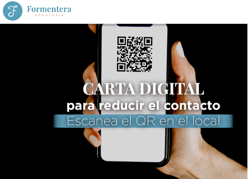 Carta digital Arrocería Formentera