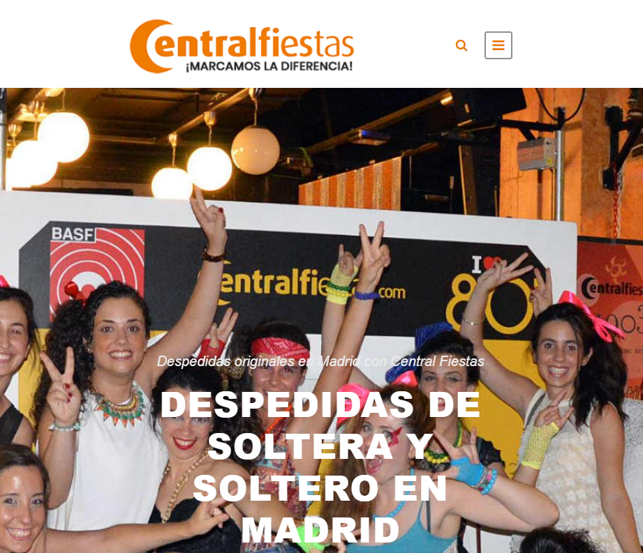 Central Fiestas pagina web