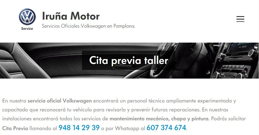 Cita Previa Taller Volkswagen Pamplona Iruña Motor