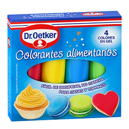 Colorantes alimentarios Dr. Oetker 40 g. Carrefour