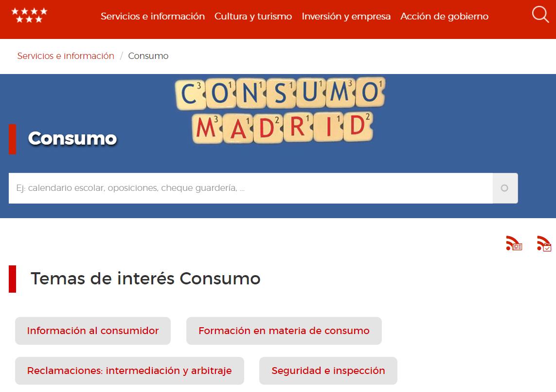 Consumo Madrid