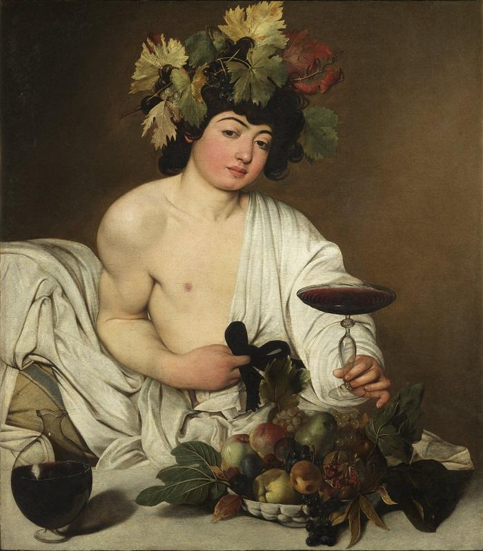 Cuadro del Dios Baco por el pintor Caravaggio