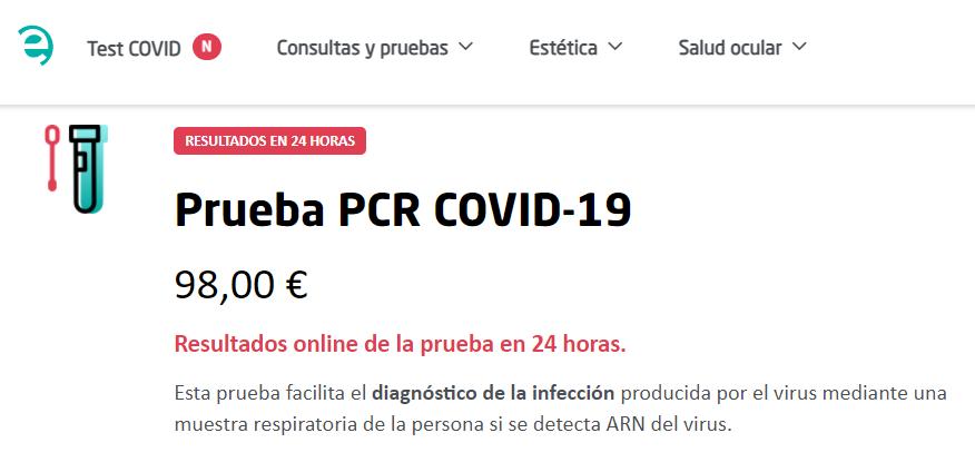 Cuanto tarda prueba COVID Quirón