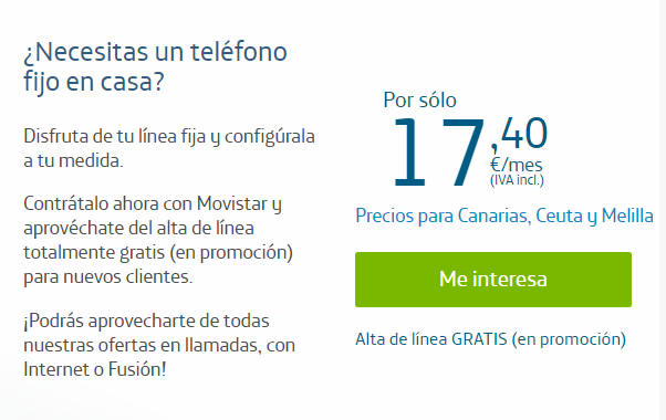 Cuota de abono Movistar 2020