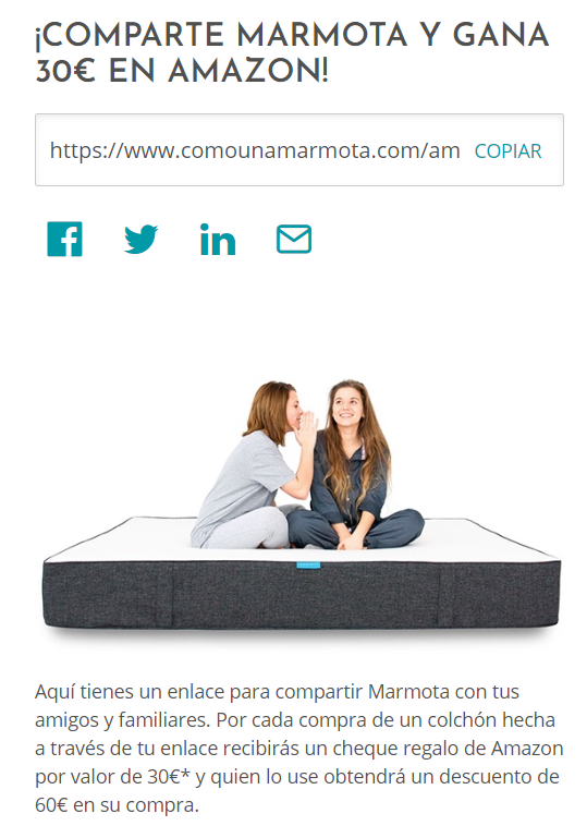 Cupón 30 euros Amazon marmota