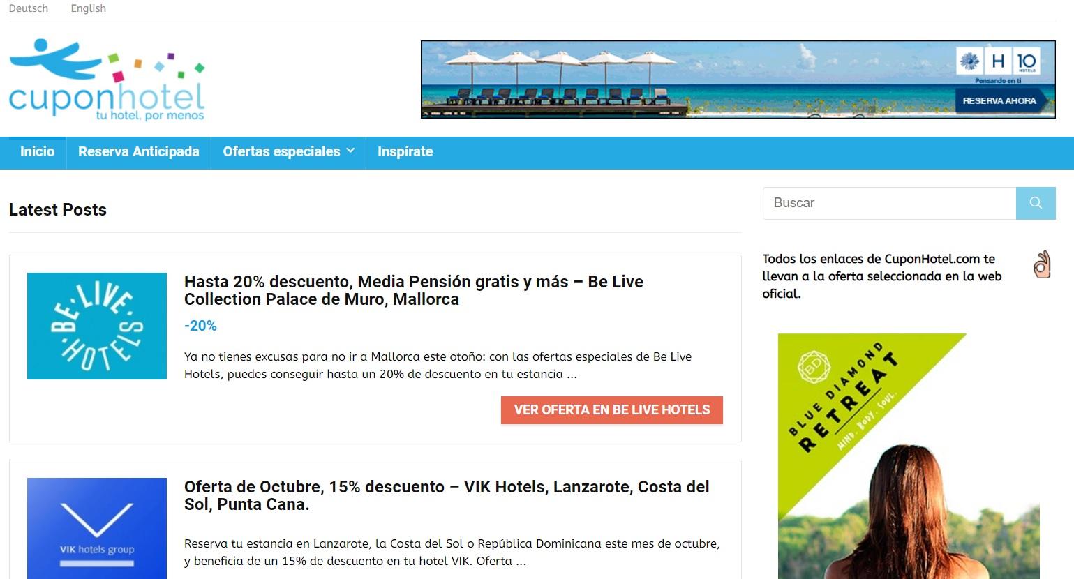 Cuponhotel página web