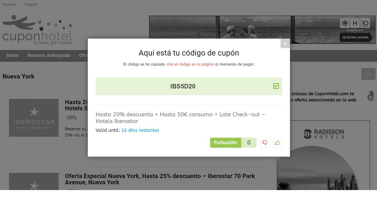 Cuponhotel promocode Nueva York