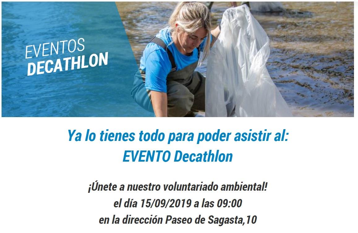 Decathlon voluntariado 15 septiembre 2019