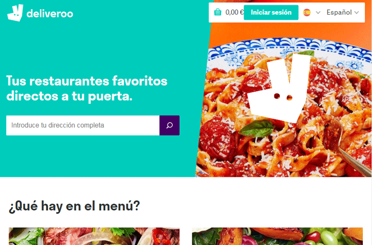 Deliveroo home