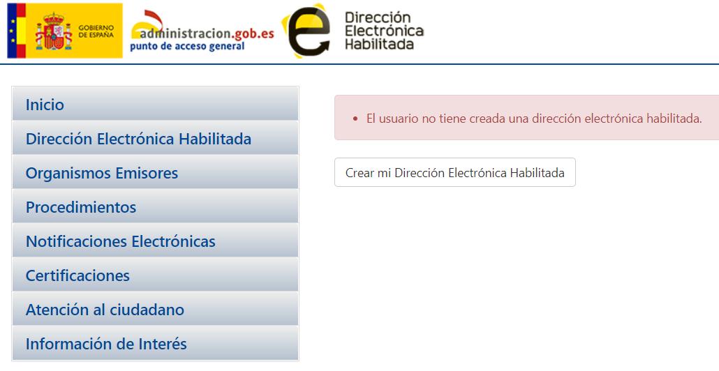 Dirección electrónica habilitada notificaciones 060