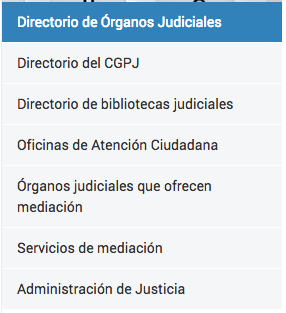 Directorio CGPJ 1