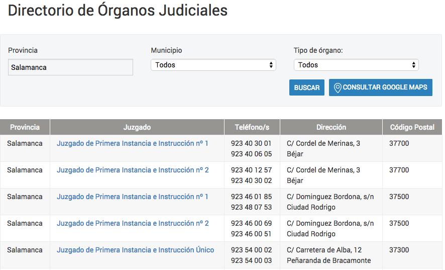 Directorio de Órganos Judiciales SA