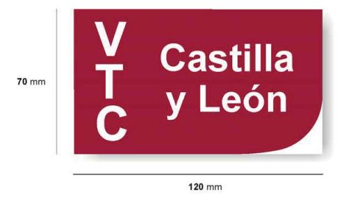 Distintivo VTC Castilla y León trasero