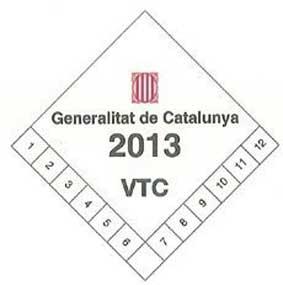 Distintivo VTC Cataluña 2017