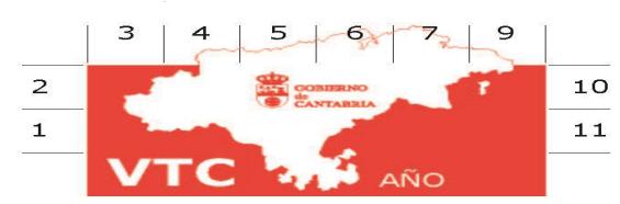Distintivo VTC delantero Cantabria