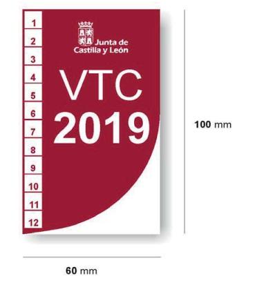 Distintivo VTC Castilla y León delantero