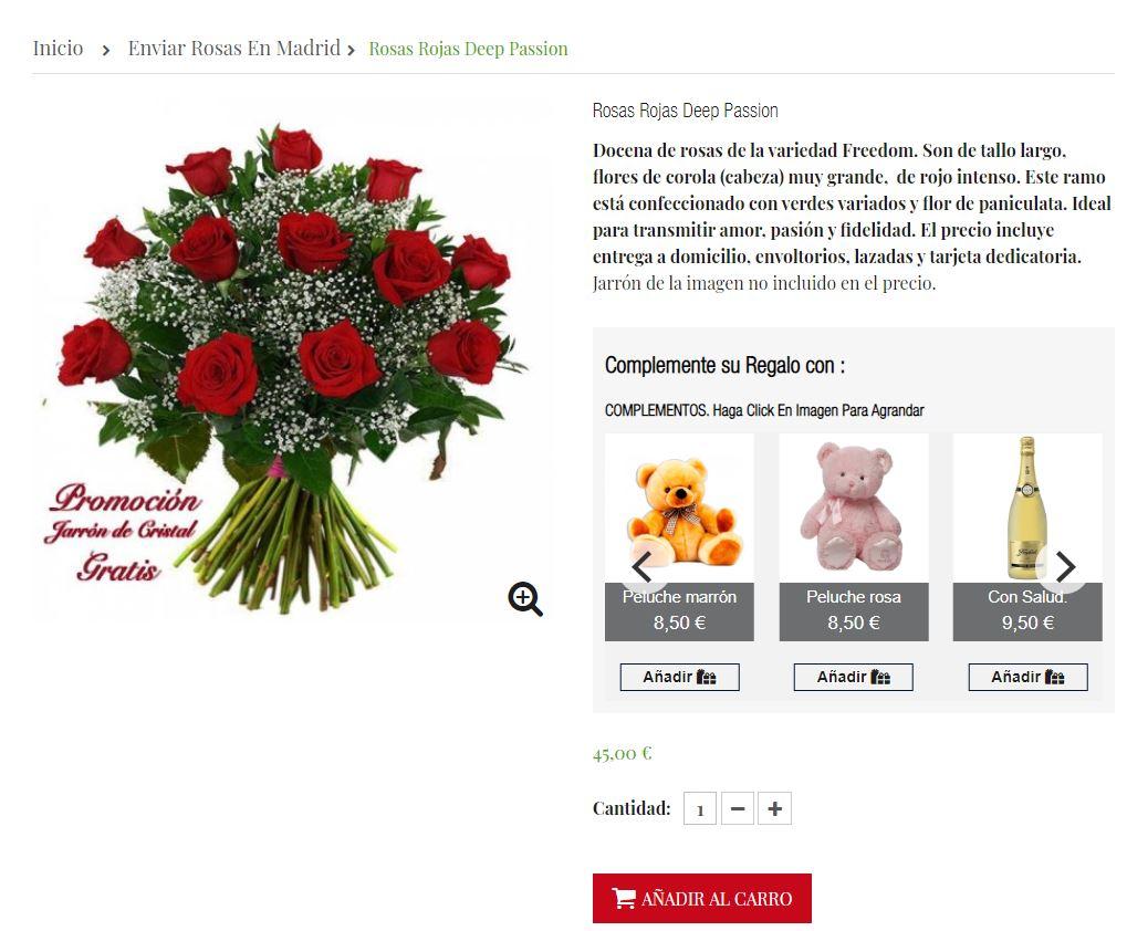 Enviar flores a Madrid