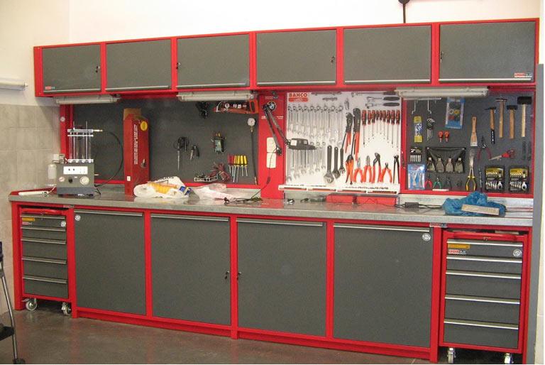 Equipamiento de los talleres mecánicos según rama de actividad