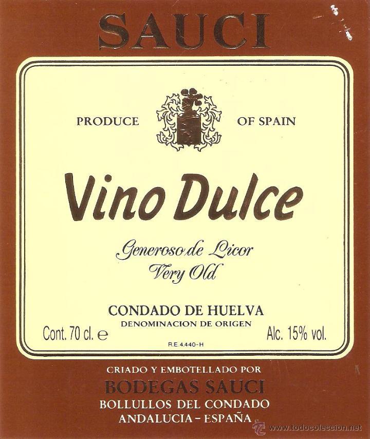 Etiqueta de vino con 15 grados de alcohol