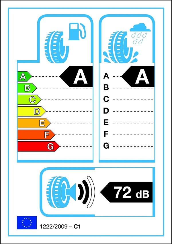 Etiqueta ecológica de un neumático en la UE