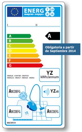 Etiqueta energetica aspiradores desde 09 2014