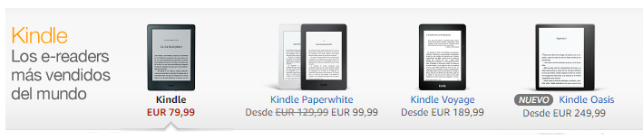 Familia de Kindle Amazon