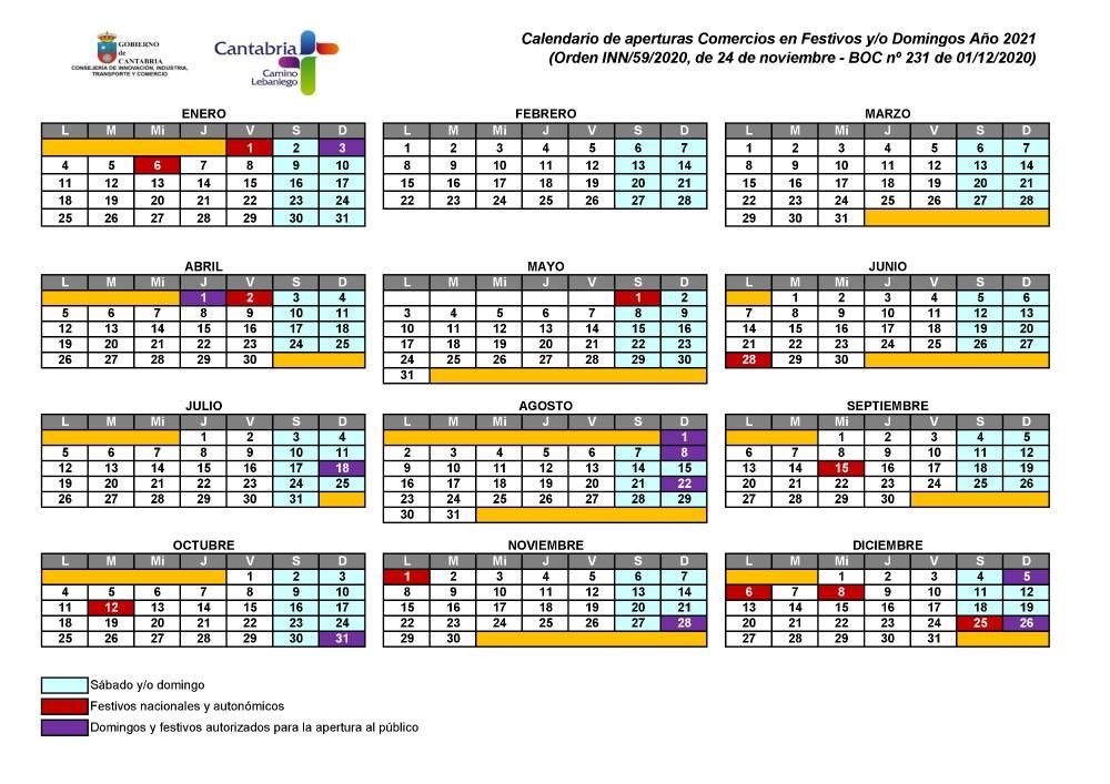 Festivos Cantabria 2020