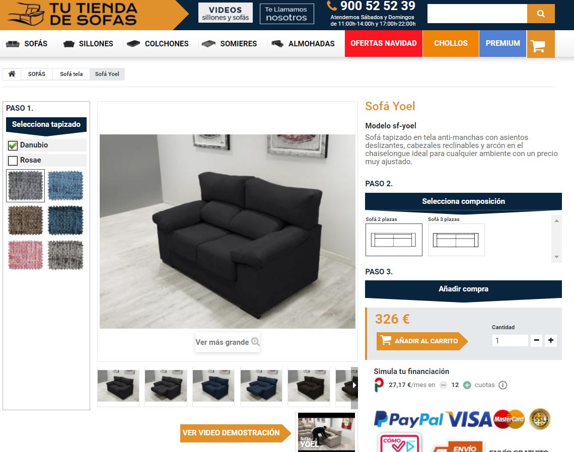 Ficha detalle sofa