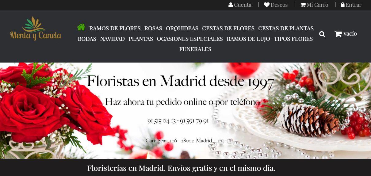 Floristería Menta y Canela homepage