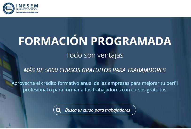 Formación programada de INESEM Business School