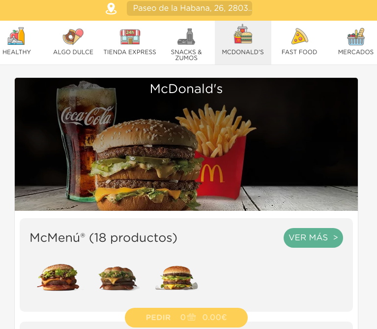 GlovoApp McDonald´s
