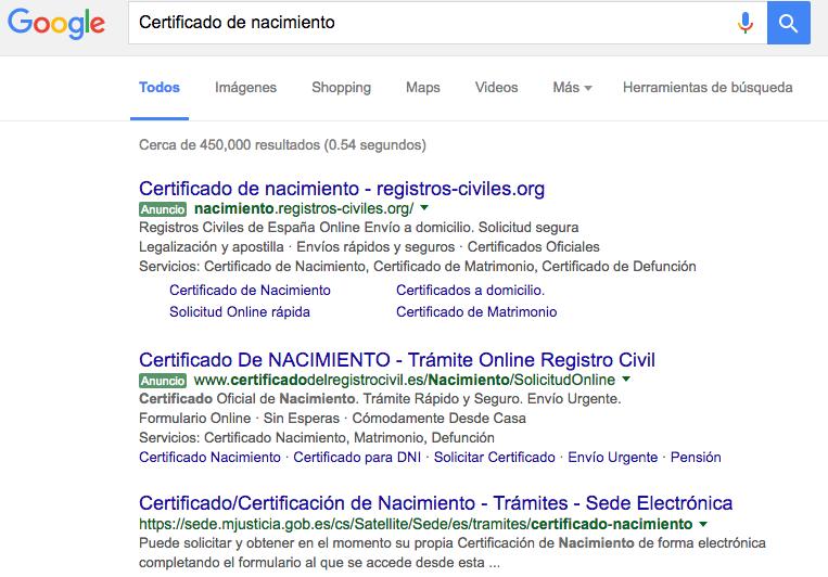google-certificado-de-nacimiento