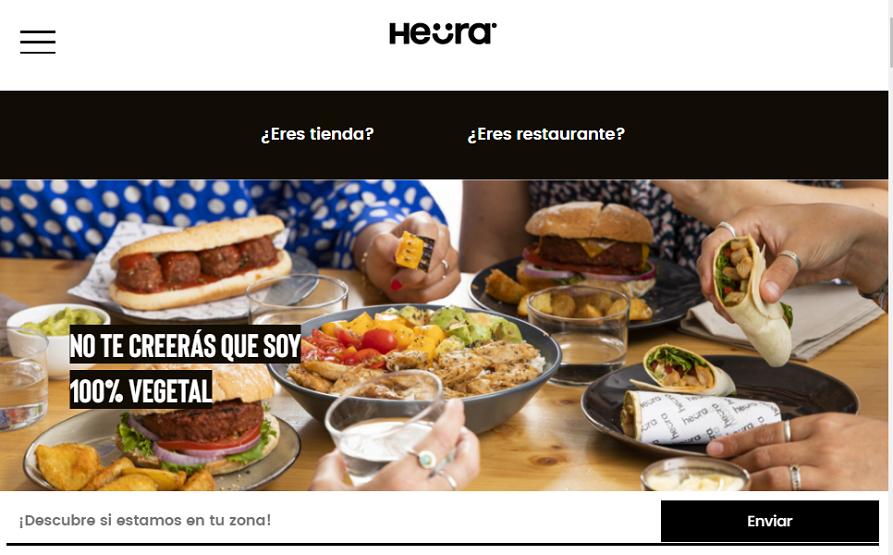 Heura homepage