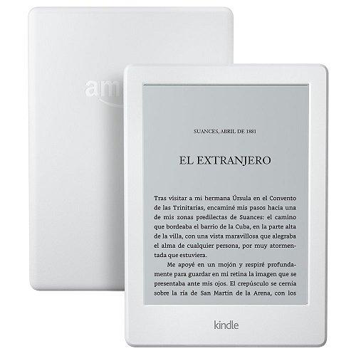 E-reader Kindle blanco con pantalla táctil antirreflejos de 6