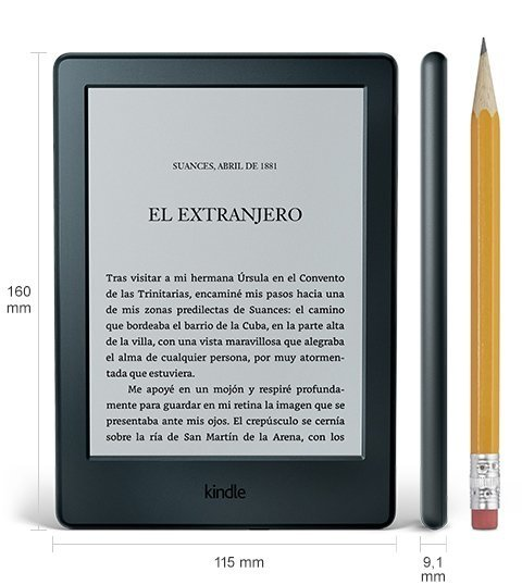 Kindle negro de Amazon